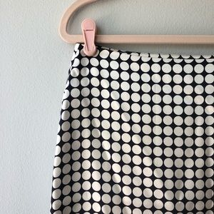 Banana Republic 100%Silk Navy/Cream Luxe Dot Skirt